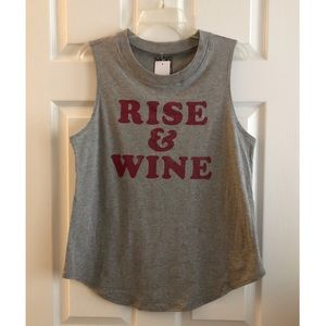 🍷 NWT! Rise & Wine Tank Top